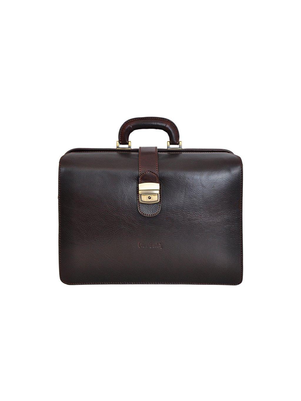 Pánská kožený kufřík Pierre Cardin 1051 RM02 tmavě hnědý