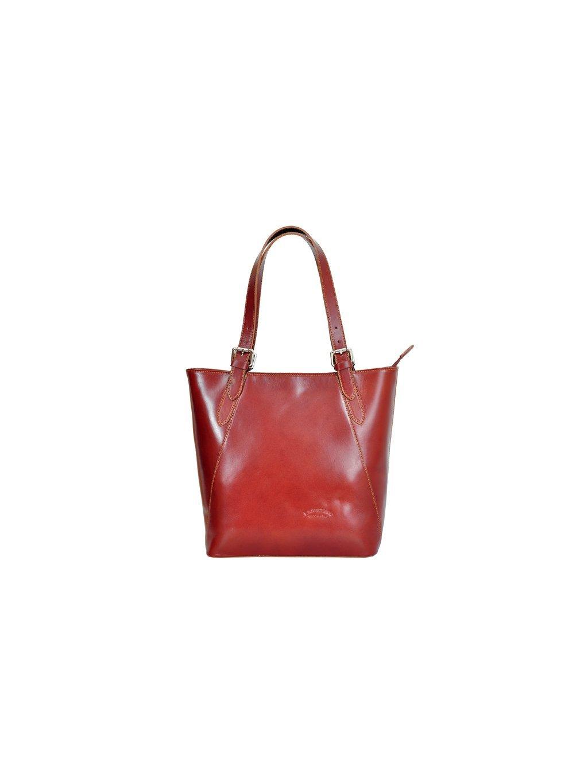 Kožená kabelka přes rameno L Artigiano 8470 hnědá