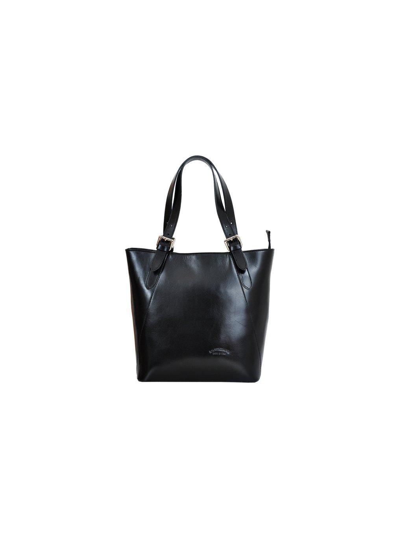Kožená kabelka přes rameno L Artigiano 8470 černá