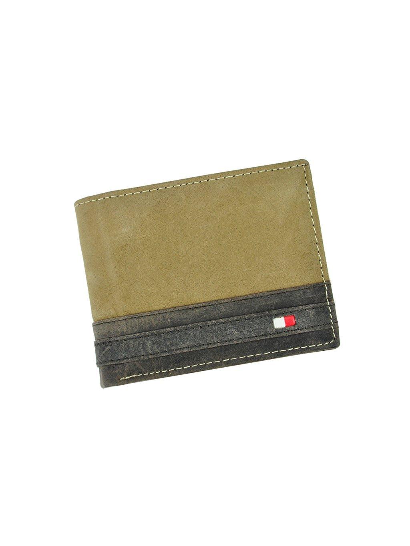 Pánská kožená peněženka Wild N1662-R světle hnědá / černá