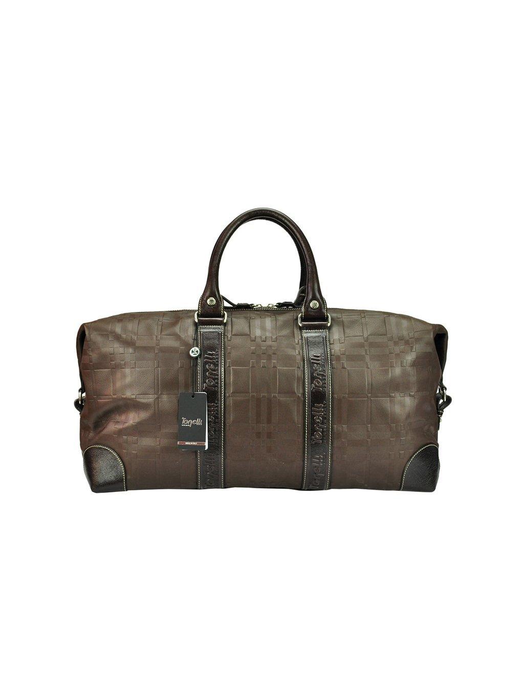 Kožená cestovní taška Gilda Tonelli 0101 VICHY/ST. hnědá