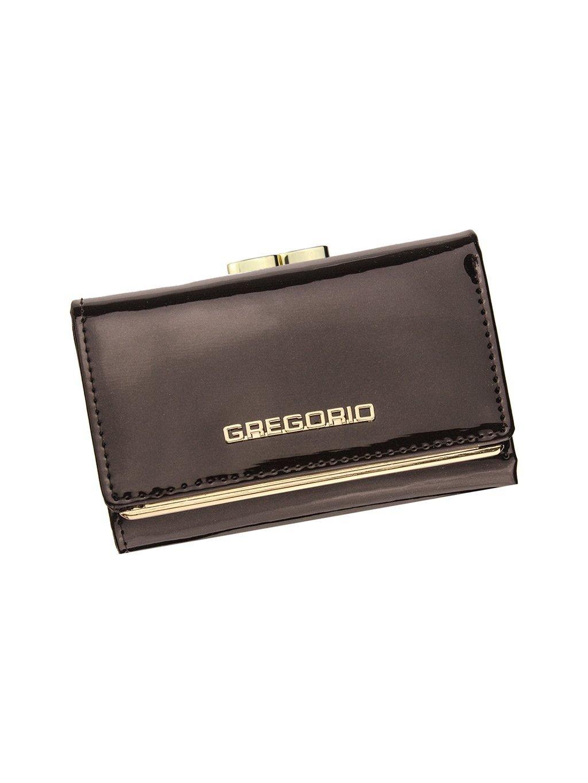 Dámská kožená peněženka Gregorio ZLL-117 tmavě hnědá