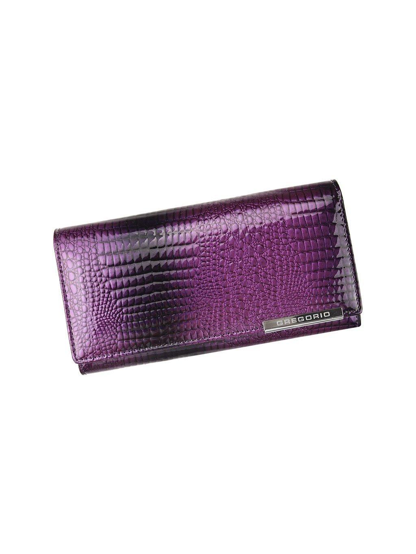 Dámská kožená peněženka Gregorio GF-106 fialová