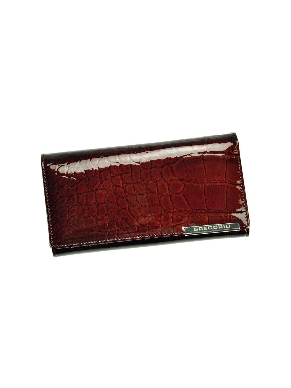 Dámská kožená peněženka Gregorio BC-102 tmavě hnědá