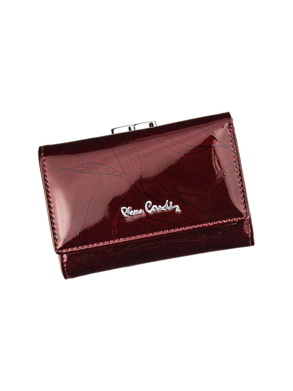 Dámská kožená peněženka Pierre Cardin 02 LEAF 117 vínová