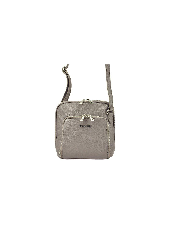 Kožená crossbody kabelka Patrizia Piu 04-001 tmavě béžová