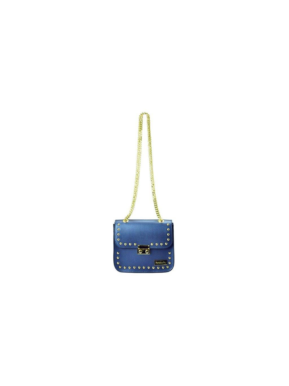 Kožená kabelka přes rameno Patrizia Piu 02-001 modrá