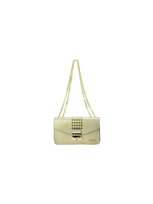 Kožená kabelka přes rameno Patrizia Piu 02-002 béžová