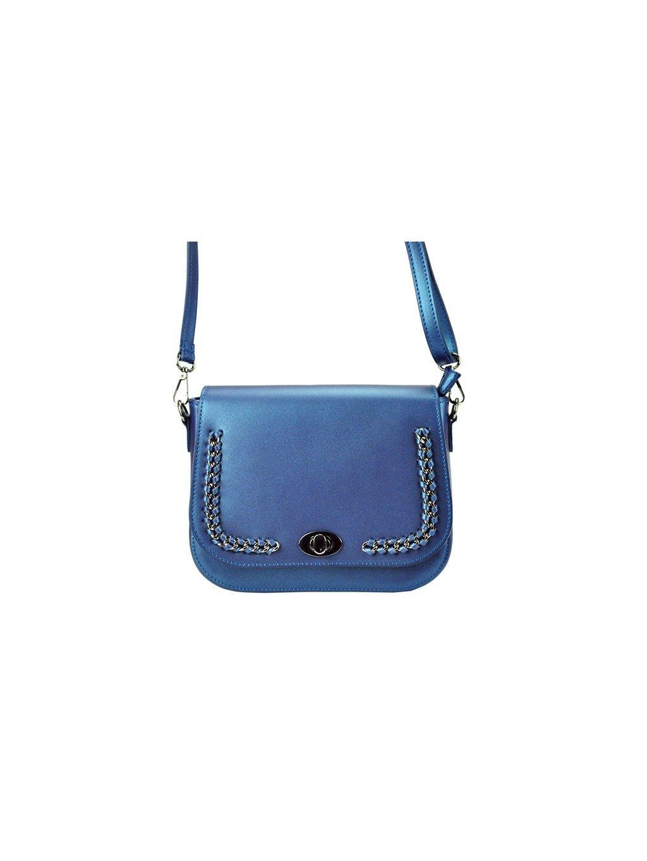 Kožená crossbody kabelka Patrizia Piu 01-030 modrá