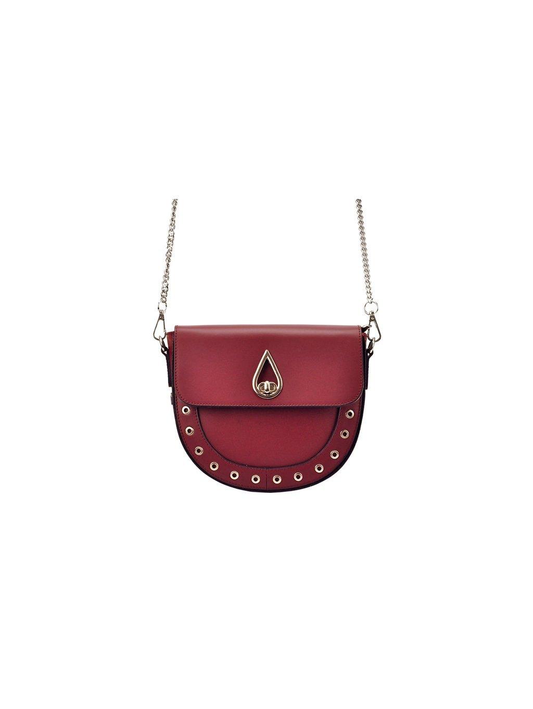 Kožená crossbody kabelka Patrizia Piu 10-002 červená