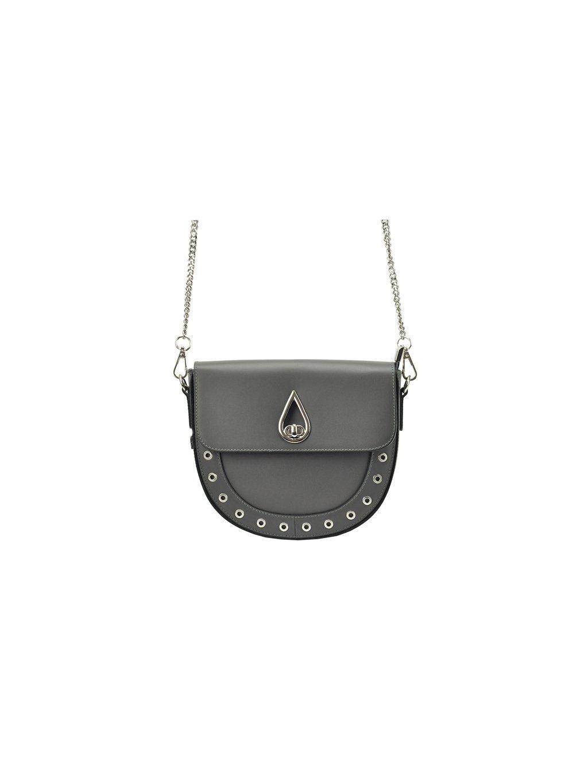 Kožená crossbody kabelka Patrizia Piu 10-002 šedá