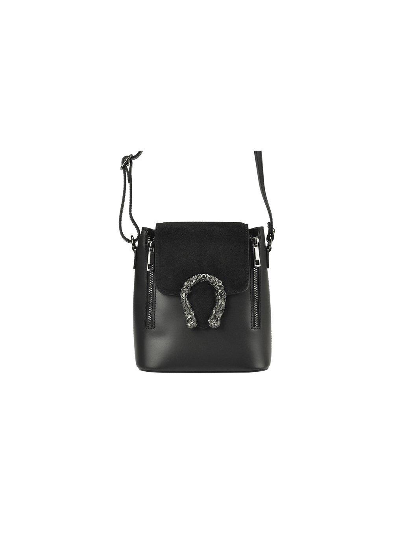 Kožená crossbody kabelka Patrizia Piu 01-063 černá