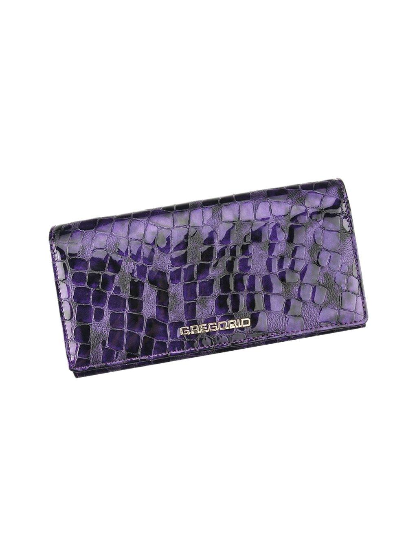 Dámská kožená peněženka Gregorio FS-102 fialová