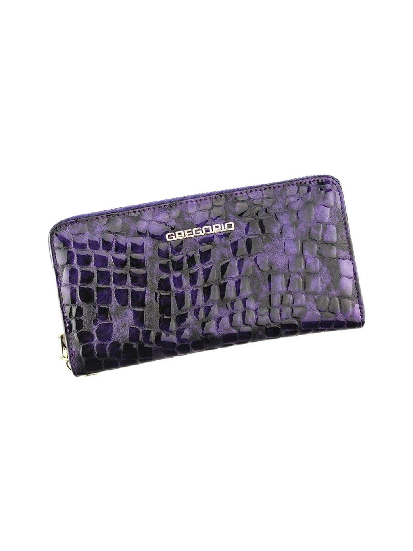 Dámská kožená peněženka Gregorio FS-118 fialová