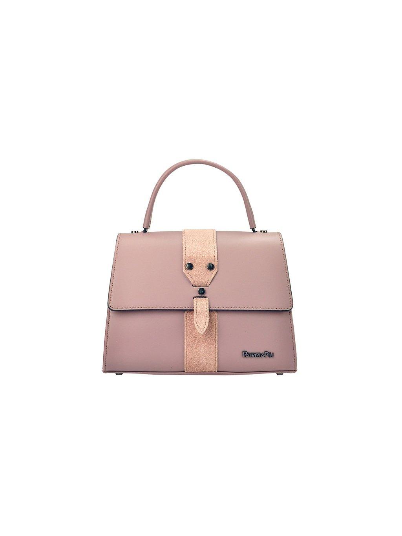 Kožená kufříková kabelka Patrizia Piu 01-037 růžová