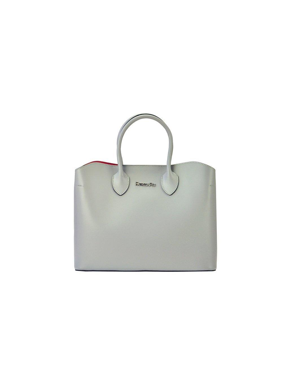 Dámská kožená kufříková kabelka Patrizia Piu 01-033 šedá