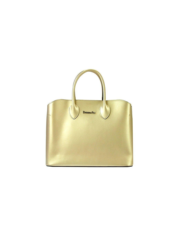 Dámská kožená kufříková kabelka Patrizia Piu 01-033 zlatá