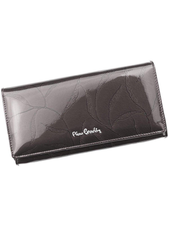 Dámská kožená peněženka Pierre Cardin 02 LEAF 100 šedá