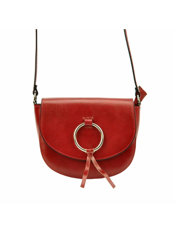 Kožená crossbody kabelka Patrizia Piu 418-031-BL červená