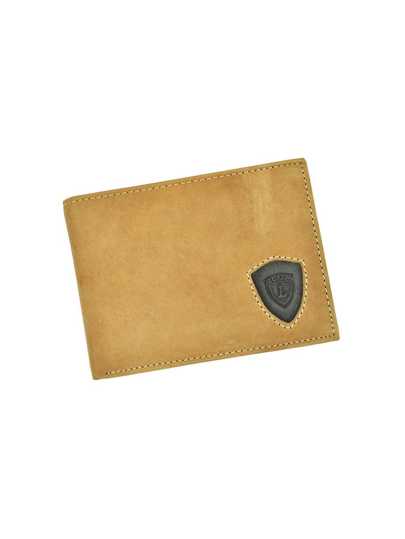 Pánská kožená peněženka Loren N992-STL světle hnědá
