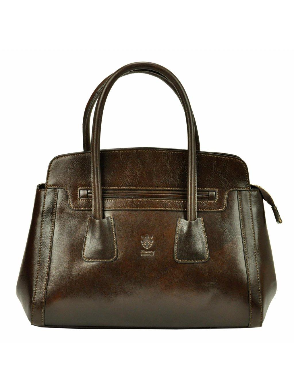 Dámská kožená kufříková kabelka Florence 11 tmavě hnědá
