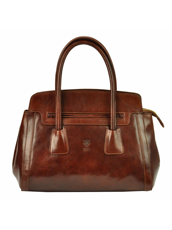 Dámská kožená kufříková kabelka Florence 11 hnědá