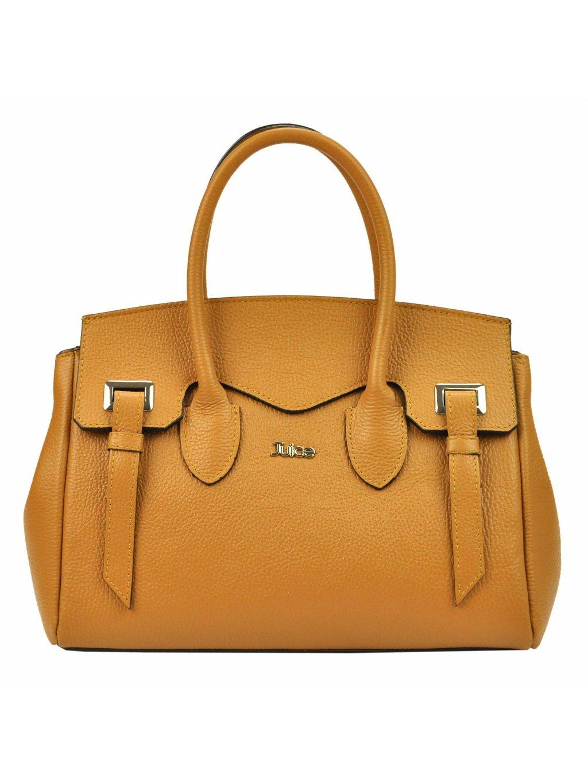 Dámská kožená kufříková kabelka JUICE 112305 camel