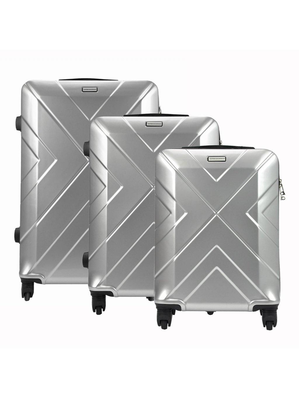 Sada kufrů Gregorio W814 stříbrná