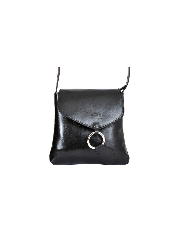 Kožená crossbody kabelka Vera Pelle 025 černá