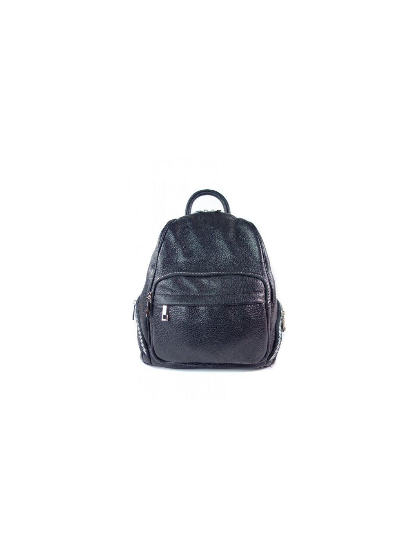 Dámský kožený batoh Vera Pelle VP344C černý