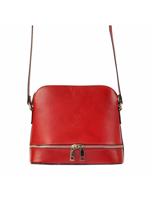 Kožená crossbody kabelka Gregorio 510 červená