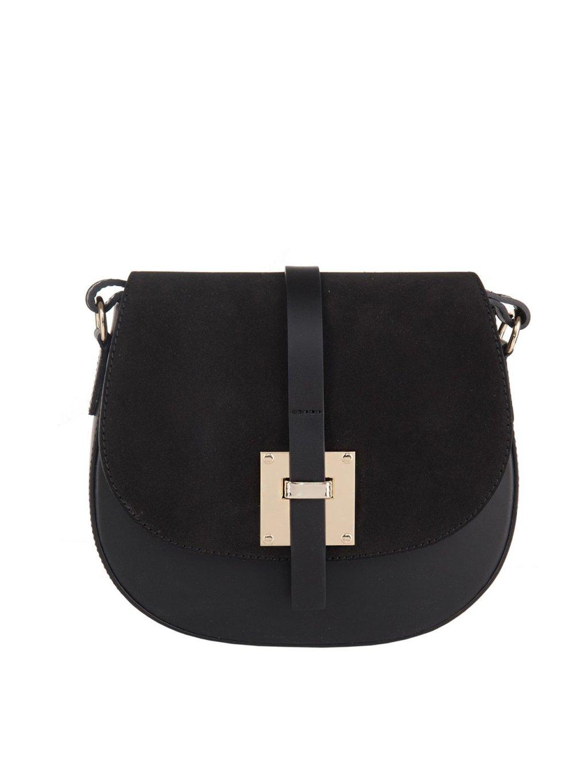 Kožená crossbody kabelka Laura 014 černá (1)
