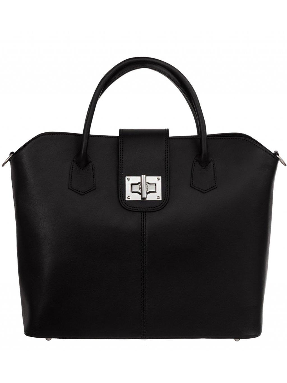 Kožená kufříková kabelka Luka 119 černá (1)
