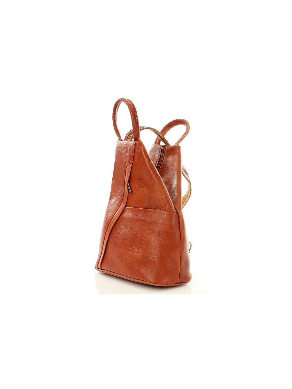 Dámský kožený batoh Vera Pelle MPl2Mb camel