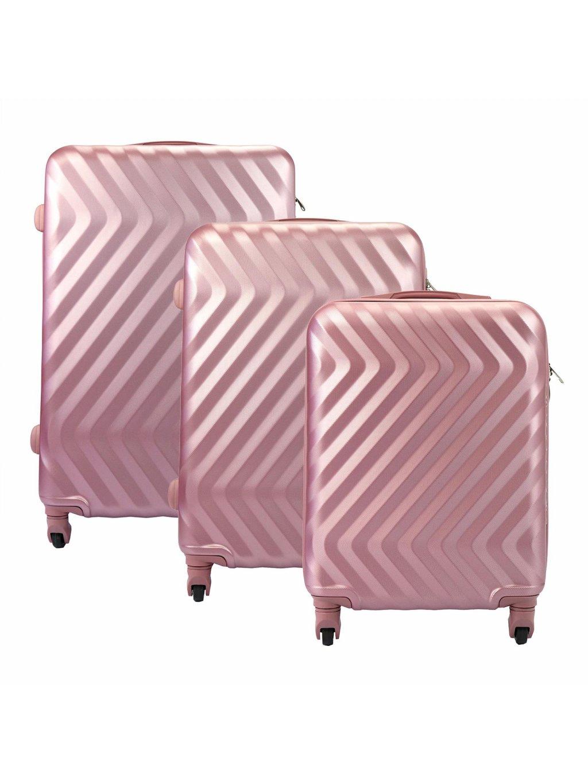 Sada kufrů Pierre Cardin Pierre Cardin 8089 RUIAN19 x3 Z růžová