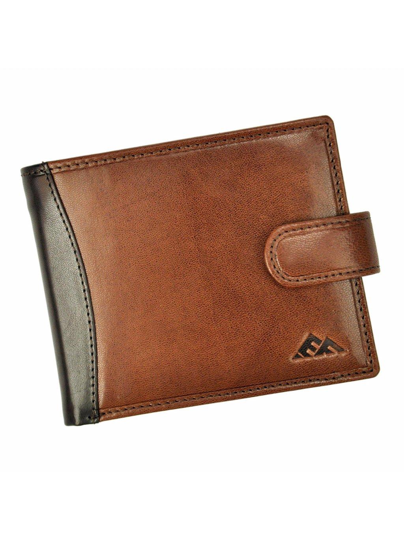 Pánská kožená peněženka EL FORREST 556-21 RFID hnědá