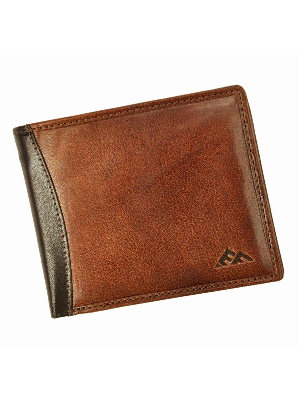 Pánská kožená peněženka EL FORREST 556/A-21 RFID hnědá