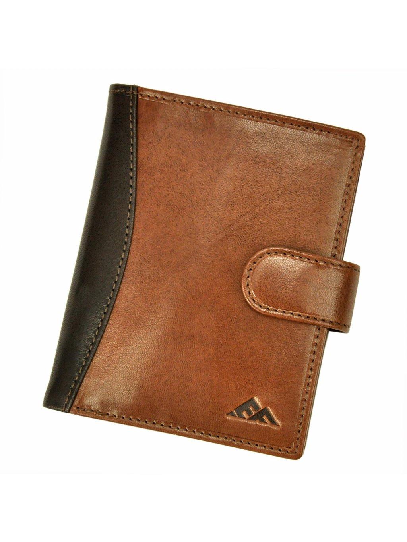 Pánská kožená peněženka EL FORREST 570-21 RFID hnědá