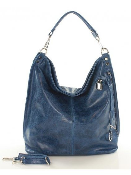 32781 kozena kabelka pres rameno mazzini m92m modra