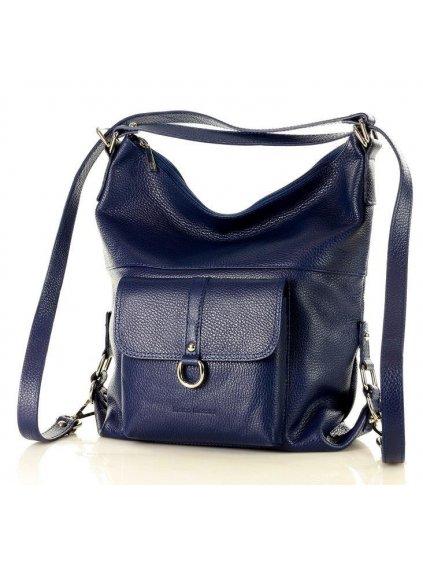 32793 kozena kabelka pres rameno mazzini m11m6 modra