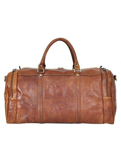 Cestovní kožená taška Gregorio 131/429 camel