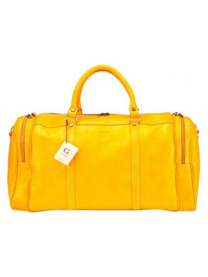 Cestovní kožená taška Gregorio 131/429 žlutá
