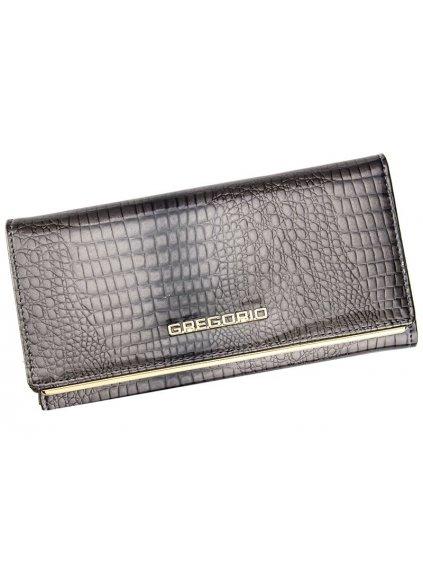 Dámská kožená peněženka Gregorio SLL-114 šedá