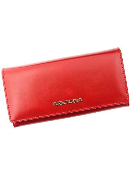 Dámská kožená peněženka Gregorio N-102 červená