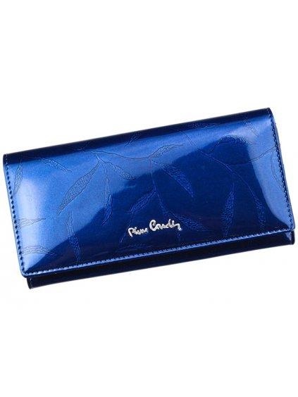 Dámská kožená peněženka Pierre Cardin 02 LEAF 100 modrá