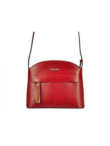 Kožená crossbody kabelka Patrizia Piu 05-002 červená