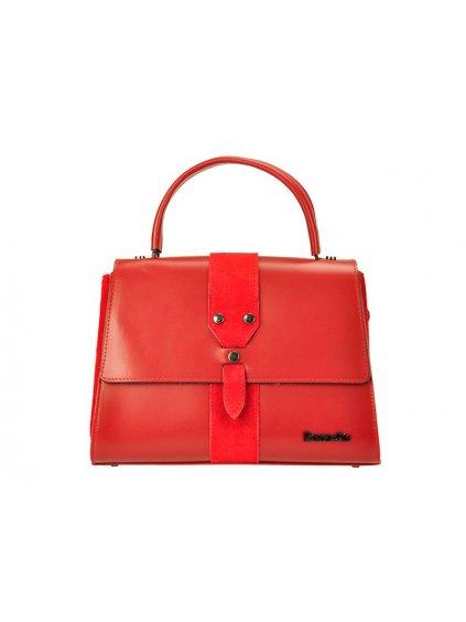 Kožená kufříková kabelka Patrizia Piu 01-037 červená