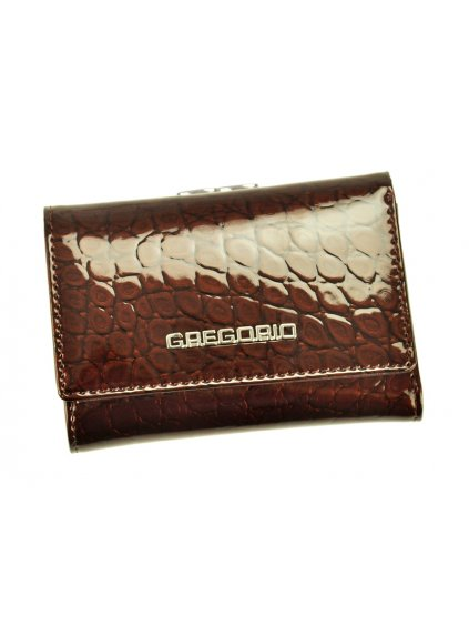 Dámská kožená peněženka Gregorio BC-117 tmavě hnědá