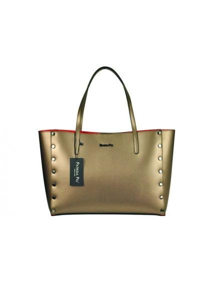 Kožená kabelka přes rameno Patrizia Piu 01-040 bronzová