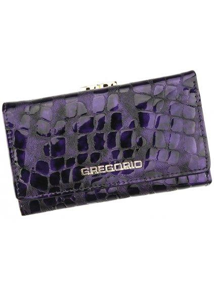 Dámská kožená peněženka Gregorio FS-108 fialová